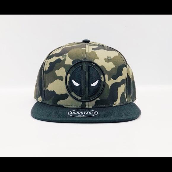 info for ab8f6 bd396 Men s Deadpool Camouflage SnapBack Hat